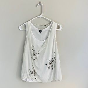 🥼White Sequined Tank🥼